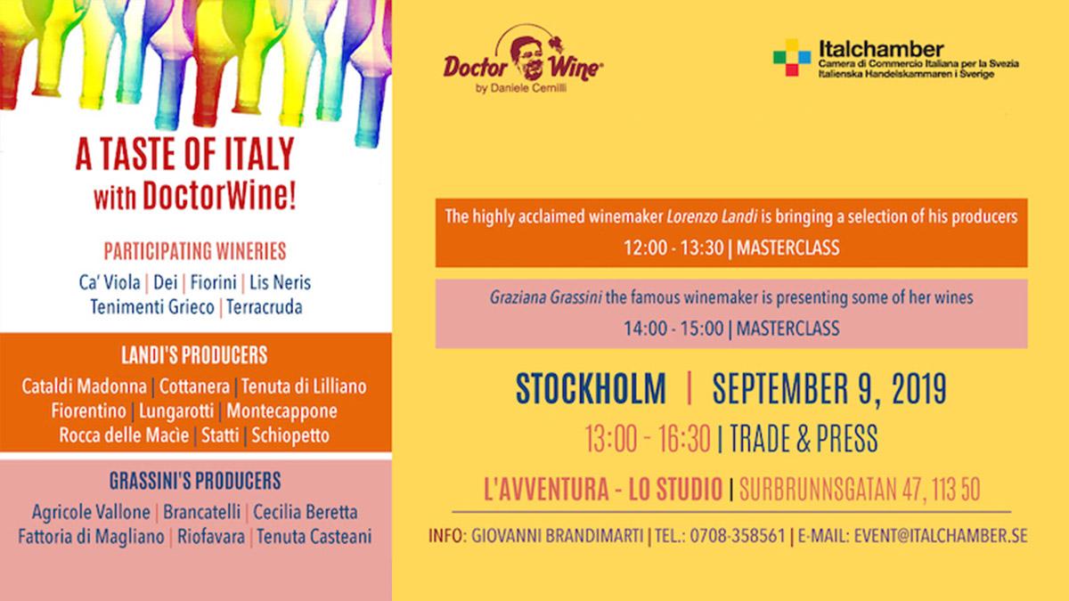Fiorini a Stoccolma con Doctor Wine