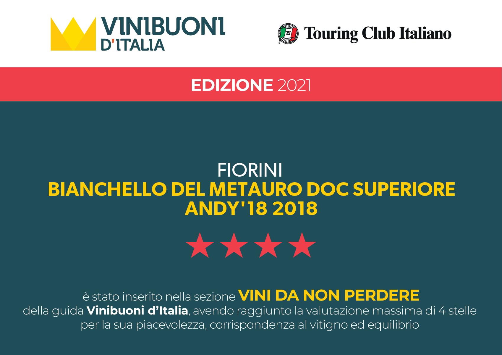 VINIBUONI D'ITALIA 2021 – ANDY'18